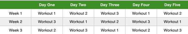 5 day workout routine to get ripped